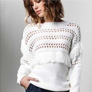 J.O.A. Openwork Pullover Sweater